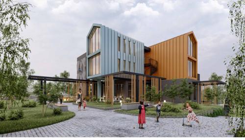 Mehmet Akif Ersoy Kültür Evi'nin inşaatı hızla yükseliyor