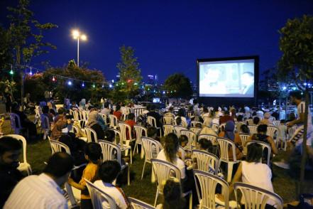 Açık hava sineması Emniyettepe'de