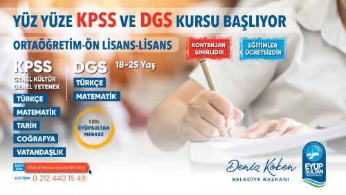 Yüz yüze KPSS ve DGS kursu başlıyor