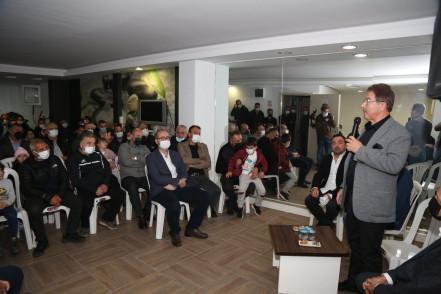 Başkan Deniz Köken Rami Park Evleri'ni ziyaret etti
