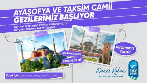 Ayasofya ve Taksim Camii gezileri başlıyor